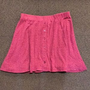 Deep pink American Eagle button up skater skirt